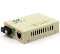 Медиаконвертер GL-MC-UTPF-SC1F-18SM-1310-N (20км, WDM, SC,1310Tх1550Rх, 10/100Base)