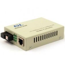 Медиаконвертер GL-MC-UTPF-SC1F-18SM-1550-N (20км, WDM, SC,1550Tх1310Rх, 10/100Base)