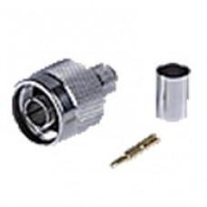 Штекер N обжим на кабель (RG-8d)