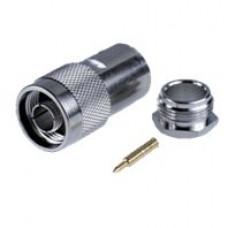 Штекер N пайка на кабель RG-10d