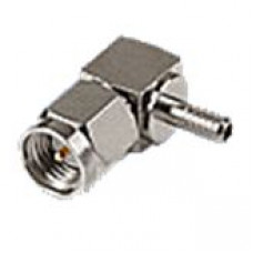 Штекер SMA на кабель RG-174 под обжим угловой
