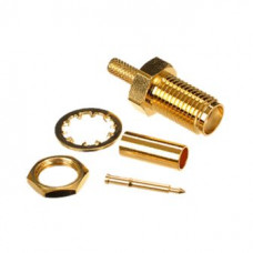 Штекер реверсный SMA обжимной под RG-58 gold