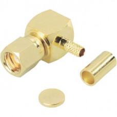 Штекер SMС на кабель RG-174 под обжим угловой