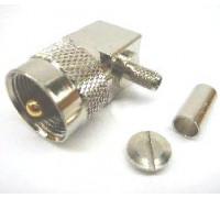 Штекер UHF обжимной на кабель RG-58 угловой